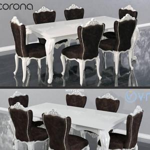 تحميل موديلات  500 Table & chair- طاولة-وكرسي ZebranoCasa EMILY