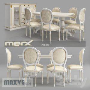 تحميل موديلات  501 Table & chair- طاولة-وكرسي Merx stolovaya