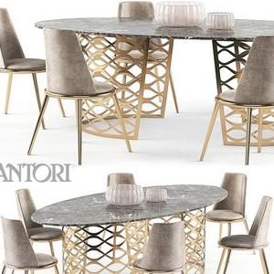 تحميل موديلات  505 Table & chair- طاولة-وكرسي Isidoro Aurora set