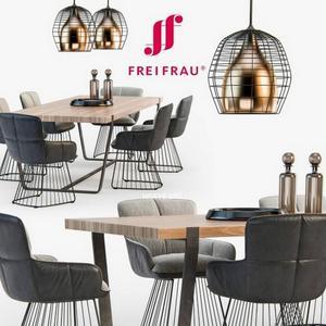 تحميل موديلات  513 Table & chair- طاولة-وكرسي Freifrau Dining set
