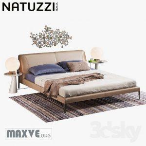 تحميل موديلات  522 Natuzzi diamante سرير bed set