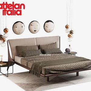 تحميل موديلات  523 Cattelan italia nelson سرير bed set