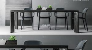 تحميل موديلات  515 Table & chair- طاولة-وكرسي Noire