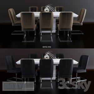 تحميل موديلات  518 Table & chair- طاولة-وكرسي Mobi Dining rooms Morokko