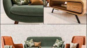 تحميل موديلات  523 Table & chair- طاولة-وكرسي Mid Century Sofa and  set