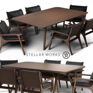تحميل موديلات  524 Table & chair- طاولة-وكرسي Ren dinning furniture