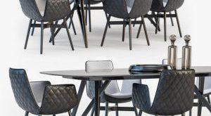 تحميل موديلات  529 Table & chair- طاولة-وكرسي Freifrau Dining set 02
