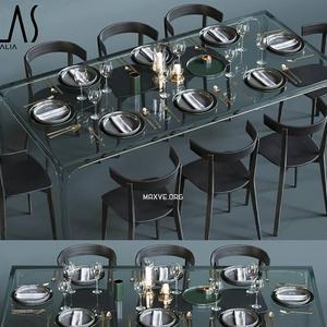 تحميل موديلات  532 Table & chair- طاولة-وكرسي glas italia  corona 2012