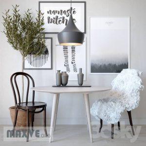 تحميل موديلات  533 Table & chair- طاولة-وكرسي and