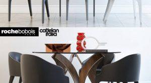 تحميل موديلات  535 Table & chair- طاولة-وكرسي Cortina Cattelan italia STEEPLE BRIDGE Roche bobois