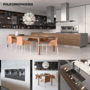 Kitchen 3dmodel poliform phoenix
