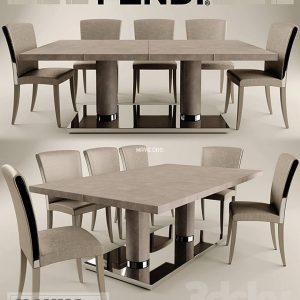 تحميل موديلات  573 Table & chair- طاولة-وكرسي