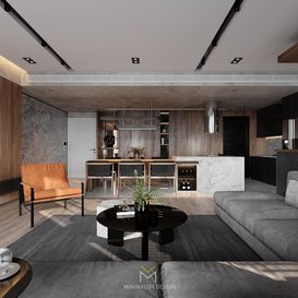 Livingroom 82 By Minimalist Decor 3d model Download Free Maxve