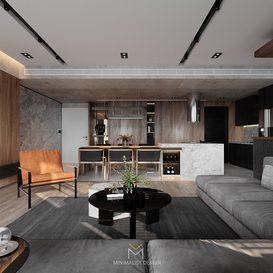 Livingroom 82 By Minimalist Decor 3d model Download Free Maxve