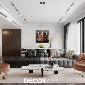 Livingroom 45 By Dam Quang Trung 3d model Download Free Maxve