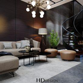 Livingroom 77 By Thuy Ngoc Nguyen 3d model Download Free Maxve
