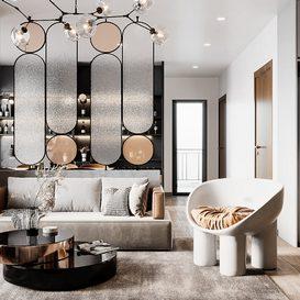 Livingroom 93 By DatNguyen 3d model Download Free Maxve