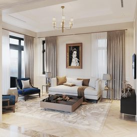 Livingroom 95 By QuanBin 3d model Download Free Maxve