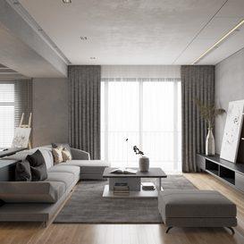 Livingroom 106 By VinhVan 3d model Download Free Maxve