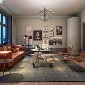 Livingroom 134 By PhungManhQuan 3d model Download Free Maxve