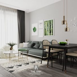 Livingroom 155 By The Anh 3d model Download Free Maxve